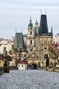 Charles bridge in prague view of the Royalty Free Stock Photography