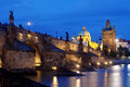Charles bridge, towers of the old town Royalty Free Stock Photo