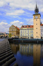 Charles Bridge and Vltava River in Prague Royalty Free Stock Photography