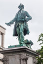 Charles de lorraine statue brussels a green bronze of in downtown belgium Royalty Free Stock Photo