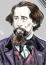 Charles Dickens portrait Royalty Free Stock Photo