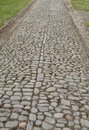 Charles Fort, Ireland  - cobblestone street Royalty Free Stock Photo
