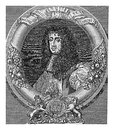 Charles ii king of england scotland and ireland engraving portrait restoring the monarchy after cromwell interregnum in Stock Image