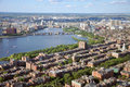 Charles River and Back Bay, Boston Stock Photography