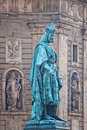 Charles statue in Prague Royalty Free Stock Photo
