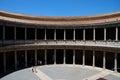 Charles V Palace courtyard, Alhambra Palace. Royalty Free Stock Photo