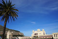 Charleston landmark of palermo city in sicily with a palm and a blue sky Stock Image