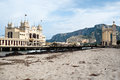 Charleston of mondello on the beach palermo sicily italy Royalty Free Stock Photography