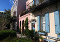 Charleston's Rainbow Row - Wide Royalty Free Stock Photo