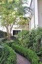 Charleston SC,August 7th:Historic House garden from Charleston in South Carolina Royalty Free Stock Photo