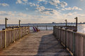 Charleston South Carolina Harbor Marina Boardwalk Royalty Free Stock Photo