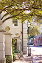 Charleston streets one of s lovely historic Royalty Free Stock Images