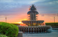 Charleston Waterfront Park Pineapple Fountain Royalty Free Stock Photo