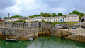 Charlestown harbour picturesque fishing village near st austell cornwall Stock Image