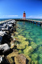 Charlevoix Michigan Lighthouse Royalty Free Stock Photo
