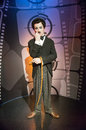 Charlie chaplin in the famous wax museum madame tussauds london england Royalty Free Stock Photo