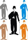 Charlie chaplin my caricature in easy colors Royalty Free Stock Images