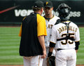 Charlie Morton des pirates de Pittsburgh Photographie stock libre de droits