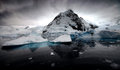 Charlotte bay icebergs and mountains in antarctica Royalty Free Stock Photos