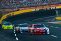CHARLOTTE, NC - MAY 27:  Montoya leads Biffle Stock Photos