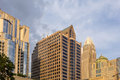 Charlotte north carolina city skyline from bbt ballpark Stock Photography