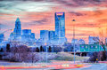 Charlotte the queen city skyline at sunrise Royalty Free Stock Photography