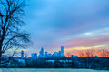 Charlotte the queen city skyline at sunrise Stock Image