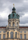 Charlottenburg palace clock berlin clockin germany Stock Images