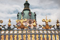 Charlottenburg palace gates berlin germany Stock Photos