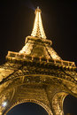 The charm of eiffel tower at night Stock Photo