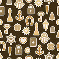 Charm good luck symbols seamless pattern