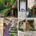 Charm of provence in detail collage the the most beautiful villages Royalty Free Stock Photography