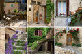 Charm of provence in detail collage the the most beautiful villages Stock Image