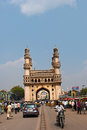 Charminar a front view of the monument at hyderabad andhra pradesh india Royalty Free Stock Photography