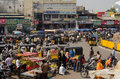 Charminar market hyderabad andhra pradesh india january shoppers and traders at the bustling bazaar by on january is one of Royalty Free Stock Photography