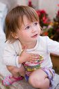 Charming baby toddler girl. Royalty Free Stock Images