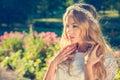 Charming Bride On Nature Backg...