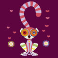 Charming lemur in love Stock Image