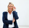 A charming mature business woman with spectacles Stock Photos