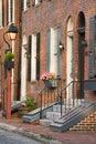 Charming Philadelphia Neighborhood Royalty Free Stock Photo