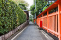 Charming street my way to fushimi inari taisha shrine kyoto japan Stock Photos
