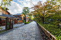Charming street my way to gion kyoto japan Royalty Free Stock Photos