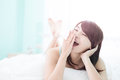 Charming woman yawn Royalty Free Stock Photo