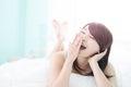Charming woman yawn Royalty Free Stock Photo