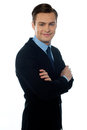 Charming young businessman posing in style Royalty Free Stock Photography