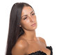 Charming young woman in a black dress Royalty Free Stock Photo