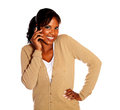 Charming young woman speaking on cellphone Stock Photography