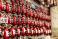 Charms in senso ji temple closeup of traditional asakusa japan Royalty Free Stock Images