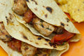 Charred tomato chicken tacos Royalty Free Stock Photo