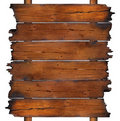 Charred wooden boards Royalty Free Stock Photo